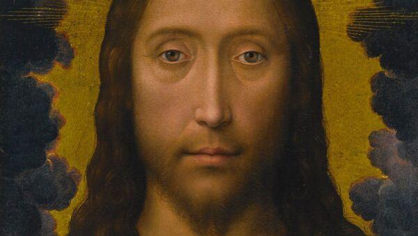 Деревянная икона Ганса Мемлинга Благословение Христа