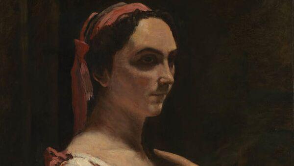 Картина Жана Батиста Камиля Коро Итальянка, или женщина с желтым рукавом