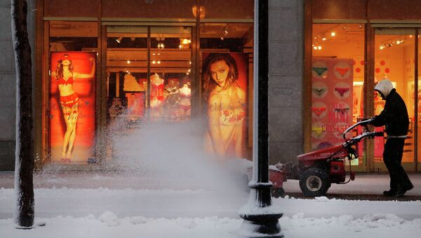 Уборка снега в Бостоне (штат Массачусетс)