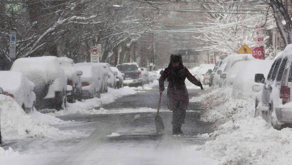 Последствия шторма Немо в Нью-Джерси, США