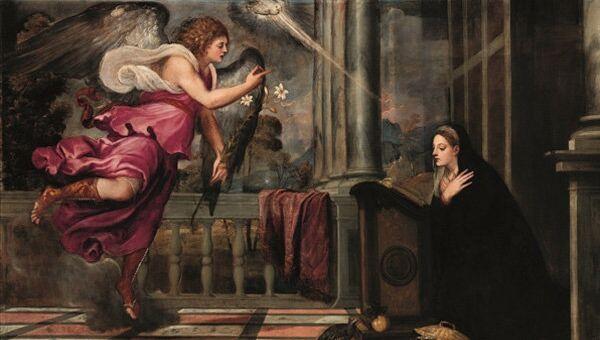 Тициан Вечеллио. Благовещение. 1535