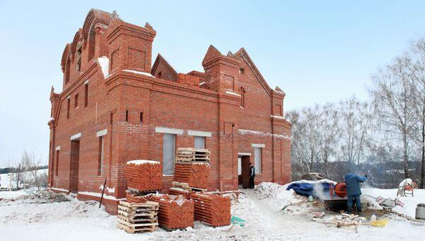 Строительство храма в селе Бураново