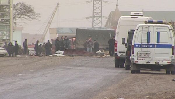 Взрыв на посту ДПС в дагестанском городе Хасавюрте