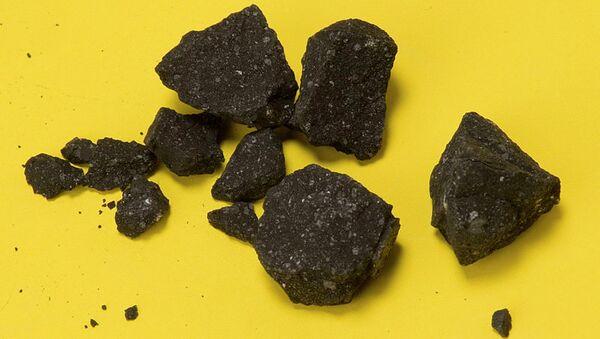 Фрагменты метеорита, архивное фото