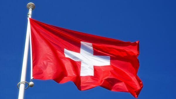 Флаг Швейцарии, архивное фото