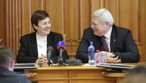 Сергей Жвачкин и Мишель Беллон