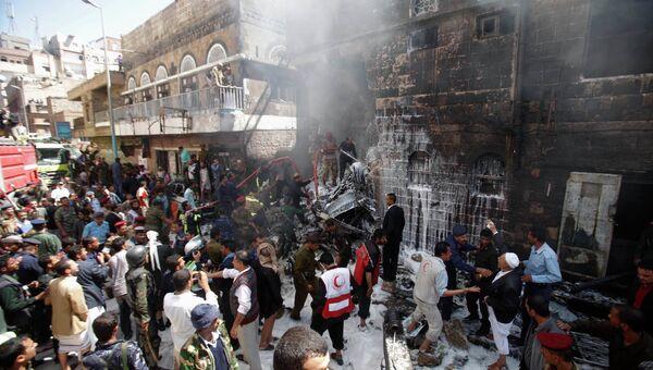 В столице Йемена Сане разбился истребитель-бомбардировщик Су-22