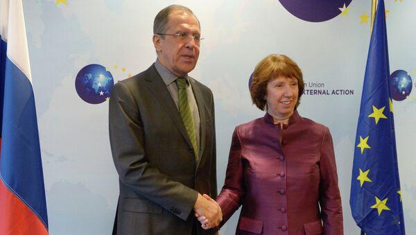 Сергей Лавров и Кэтрин Эштон. Архивное фото