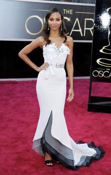 Зои Салдана в платье Alexis Mabille на 85-й церемонии вручения премии Оскар