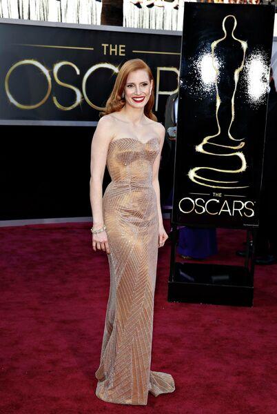 Джессика Честейн на 85-й церемонии вручения премии Оскар