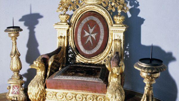 Мальтийский трон, подаренный Павлу Первому