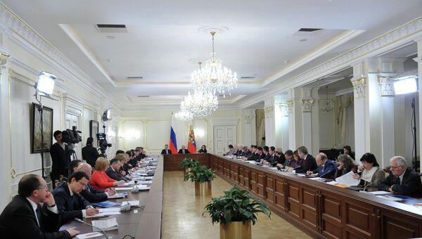 В.Путин на заседании по нацпроектам в демографической политике