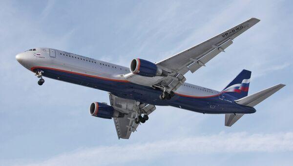 Самолет Boeing-767 авиакомпании Аэрофлот-Российские авиалинии. Архивное фото
