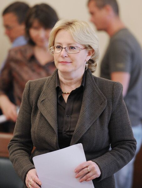 Брифинг министра здравоохранения РФ Вероники Скворцовой