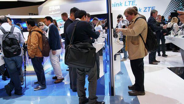 Стенды китайских компаний Huawei. Архивное фото
