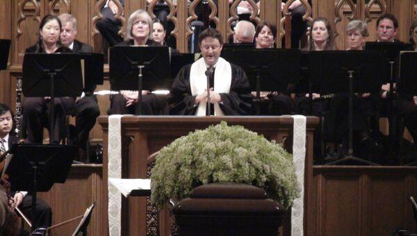 Отпевание Вана Клиберна в Баптистской церкви на Бродвее в Форт-Уорте, штат Техас