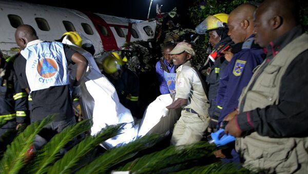 На месте крушения самолета в Конго