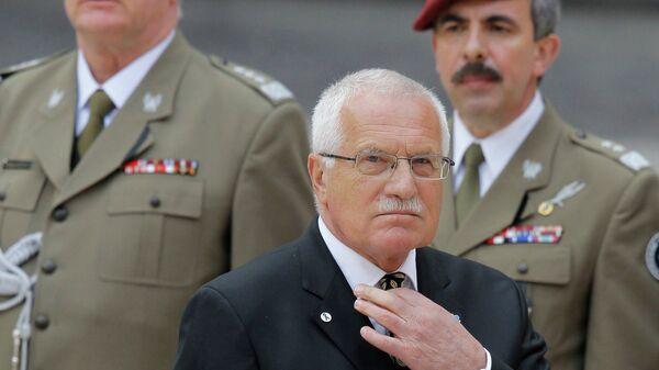 Бывший Президент Чехии Вацлав Клаус. Архивное фото