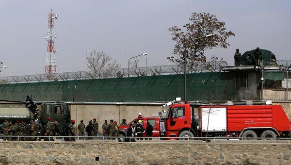 На месте взрыва у Минобороны в Кабуле
