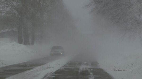Сильный снегопад. Архив