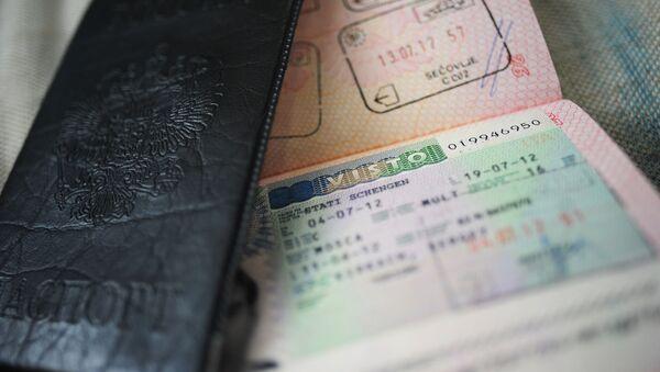 Шенгенская виза. Архивное фото