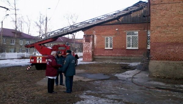 Пожар в детдоме под Иркутском