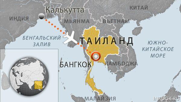 Авиалайнер совершил аварийную посадку в аэропорту Бангкока