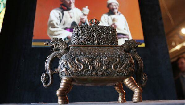 Открытие выставки Сокровища Гималаев, один из экспонатов