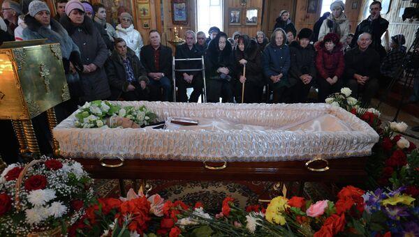 Похороны Валерия Золотухина в селе Быстрый Исток на Алтае