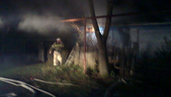 Пожар в жилом доме в Ставропольском крае