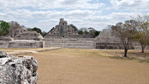 Археологический памятник культуры майя в Эдзна, в штате Кампече. Архивное фото