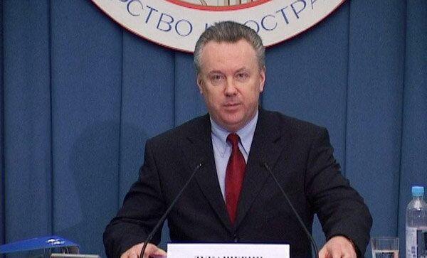 Официальный представитель МИД России Александр Лукашевич. Архив