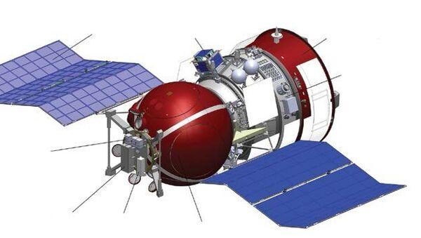 Биоспутник Бион-М1 со студенческим малым спутником Аист, закрепленным на его корпусе