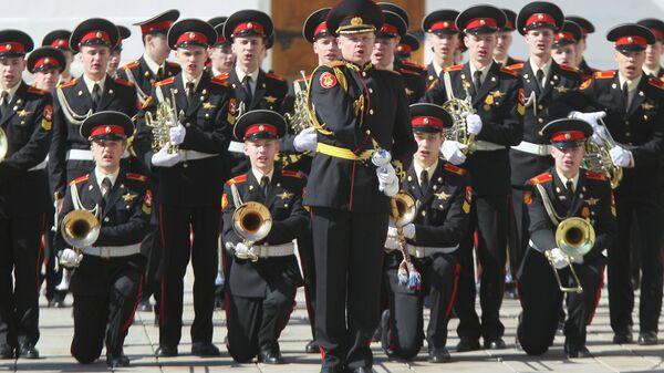 Оркестр Московского Суворовского Военного Училища. Архивное фото
