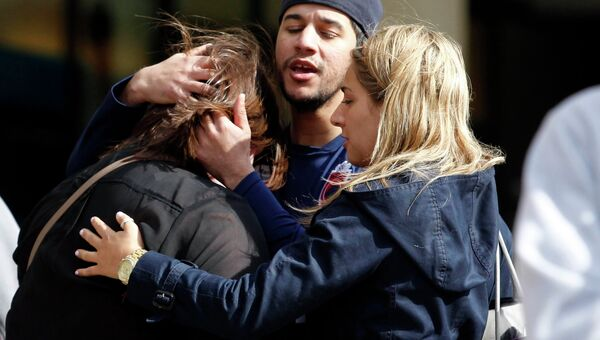 Очевидцы на месте взрыва в Бостоне