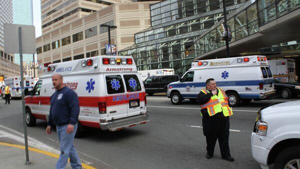 Машины скорой помощи в центре Бостона