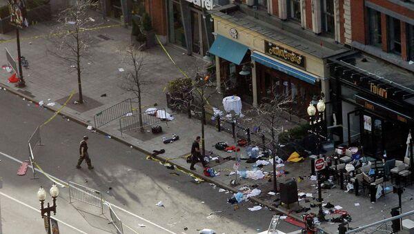 Место одного из взрывов в Бостоне