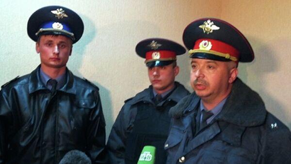 Полицейские Алексей Едрешов, Александр Самсоненко и Дмитрий Коновалов, которые обезвредили и задержали подозреваемого в убийстве шести человеке Сергея Помазуна