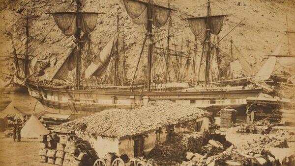 Работа военного фотографа Роджера Фентона. Балаклавская гавань, пирс