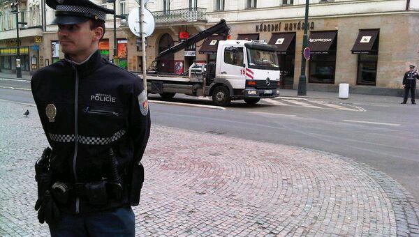 Полиция в Праге, архивное фото