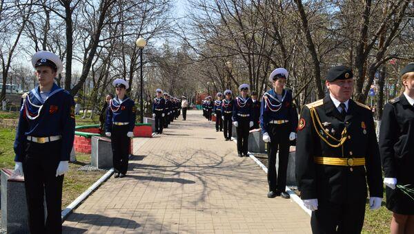 Открытие Аллеи героев во Владивостоке
