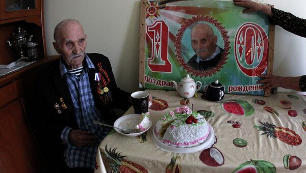 Ветеран ВОВ Тимофей Липовской, отметивший 100-й День рождения