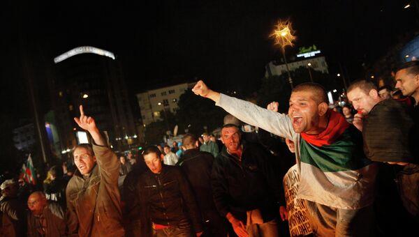 Протесты против результатов выборов в Болгарии