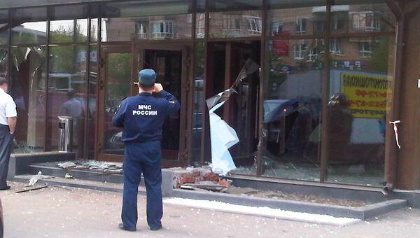 Последствия взрыва газового баллона в кафе в Москве
