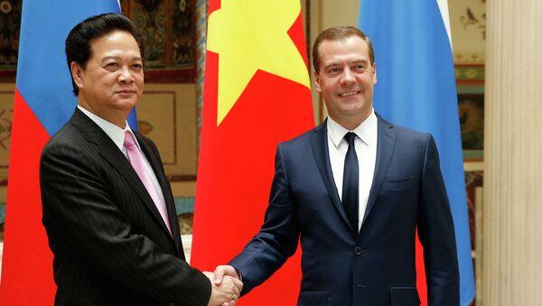 Переговоры Дмитрия Медведева и Нгуен Тан Занга