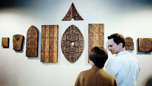 Одна из работ выставки Icons в арт-центре Ткачи