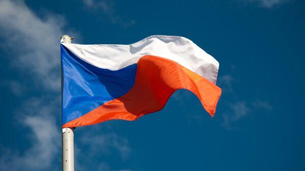 Флаг Чехии. Архивное фото