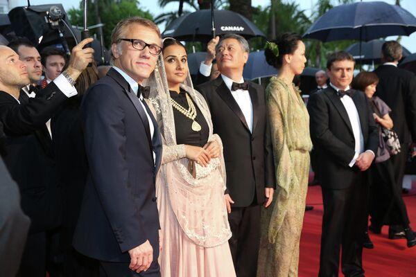 Кристоф Вальц и Видья Балан на открытии 66-го кинофестиваля в Каннах