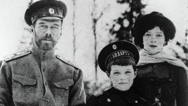Николай, Алексей и Мария Романовы. Архивное фото
