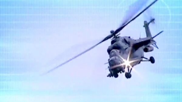 Хищник МИ-35М и тихий вертолет. Экспонаты выставки HeliRussia-2013